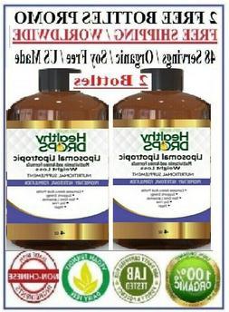 2 Bottles - LIPOTROPIC LIQUID MIC VITAMIN B COMPLEX AMINO AC
