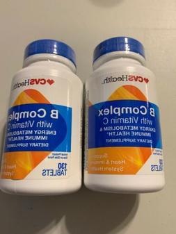 2 CVS Health B COMPLEX WITH VITAMIN C 130 TABLETS EXP. 5/202
