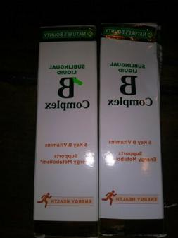 2 Nature's Bounty Vitamin B Complex Sublingual Liquid