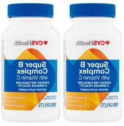 2 PACKS of CVS Health Super B Complex with Vitamin C - immun
