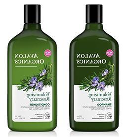 Avalon Organics All Natural Rosemary Volumizing Shampoo and