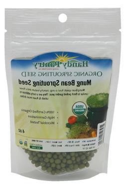 Mung Bean Sprouting Seed- Organic - 4 Oz - Handy Pantry Bran