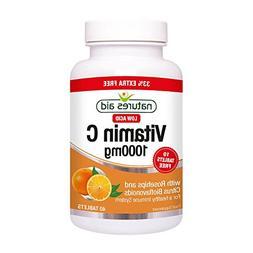 """Natures Aid vitamins C low acid tablets 1g 30 tablets"""