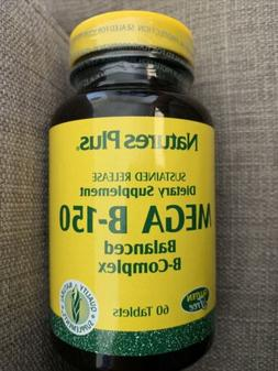 Natures Plus Mega B150 Complex - 90 Vegetarian Tablets, Sust