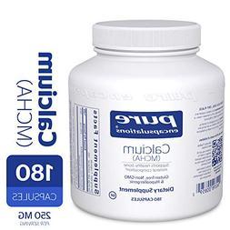 Pure Encapsulations - Calcium MCHA - Hypoallergenic Suppleme