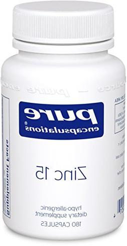 Pure Encapsulations - Zinc 15 - Zinc Picolinate  Highly Abso