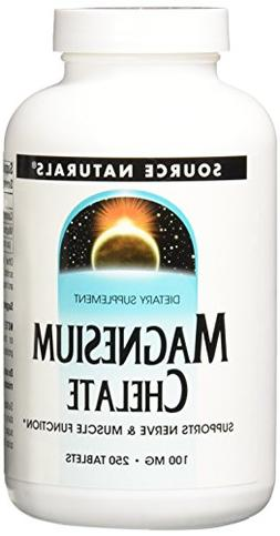 Source Naturals Magnesium Chelate 100mg High Absorption Mine