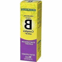 Spring Valley - Vitamin B-Complex Sublingual Liquid, 2 Ounce