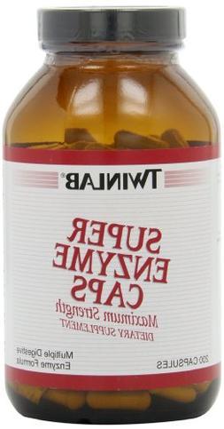 TwinLab - Super Enzyme Caps, 200 capsules