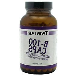 Twinlab - B-100 Caps Vitamin B-Complex - 100 Capsules