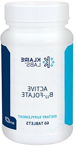 Klaire Labs Active B12-Folate 60 Tablets