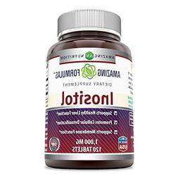Amazing Formulas Inositol 1000 Mg 120 Tablets - Supports Hea