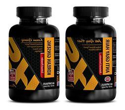 antioxidant extract - ANTI GRAY HAIR - KOREAN GINSENG - COMB