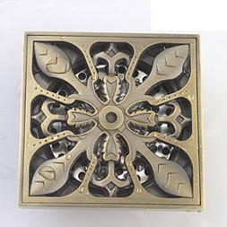 YAOHAOHAO Antique copper of deodorant floor drain/Square Thi