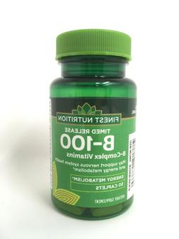 Finest Nutrition B-100 B-Complex Vaitamins, 50 Caplets each