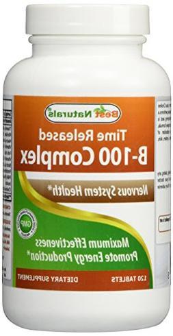Best Naturals B-100 Complex 120 Tablets