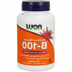 Now Foods B-100 Sustained Release B-Complex, 100 Tabs ENERGY