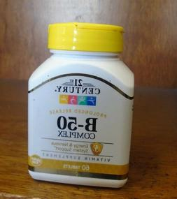 21st Century B-50 Complex Prolonged Release Tablets 60 Count