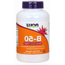 NOW Vitamin B-50 mg,250 Veg Capsules