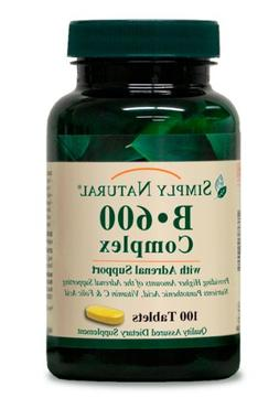 Simply Natural B-600 Complex, 100 tablets