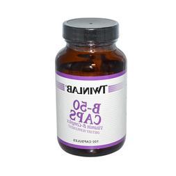 Twinlab B-50 Caps - Vitamin B-Complex - 100 Capsules