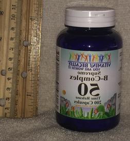 B-Complex 50    Vitamins Because > NO PRESERVATIVES    200 c