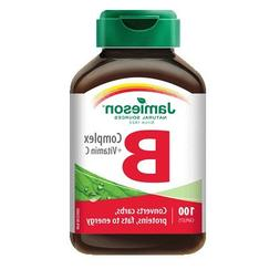 B Complex with Vitamin C-100 caplets Brand: Jamieson Laborat