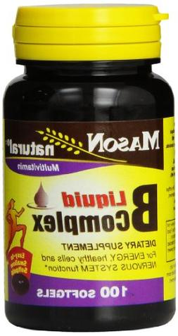 Mason Natural, Vitamin B Complex Multivitamin, Softgel, 100-