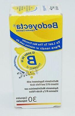 Bedoyecta B Complex Multivitamin Supplement, 30 Capsules, Ex