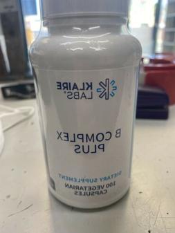 Klaire Labs B-Complex Plus Supplement 100 Vegetarian Capsule