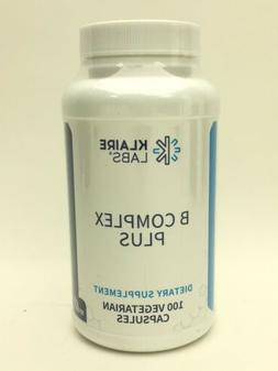 Klaire Labs B-Complex Plus Supplement 100 Vegetarian Capsule