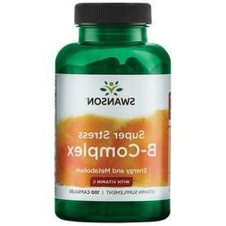 Swanson Super Stress B-Complex with Vitamin C - 100 Caps