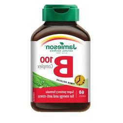 B Complex 100 mg Timed Release-60 caplets Brand: Jamieson La