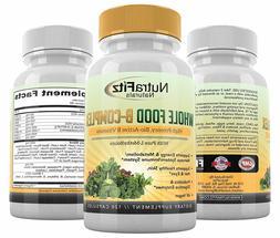 NutraFitz Naturals B Complex Vitamins - B Vitamins Whole Foo
