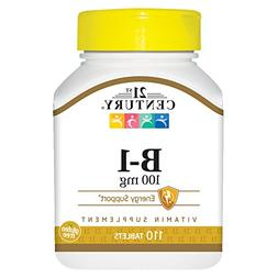 21st Century B-1 100mg Tablets, 110 Count
