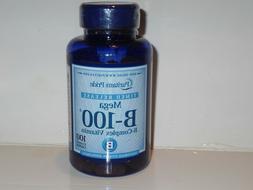 B100 COMPLEX VITAMIN B1 B2 NIACIN B6 B12 BIOTIN PABA INOSITO