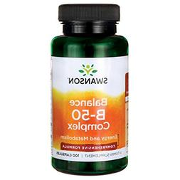 Swanson B-50 B-Complex Vitamins Energy Cardio Stress Metabol
