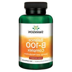 Swanson Balance Vitamin B-100 100 Capsules