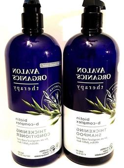 Avalon Organics Biotin B-Complex Thickening Shampoo and Cond