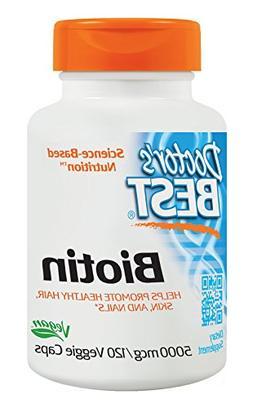 Doctor's Best Biotin, Supports Hair, Skin, Nails, 5000 mcg,