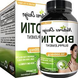 Natural Biotin Supplement for Healthy Hair Growth - B Vitami