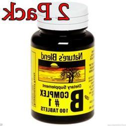 Nature's Blend Vitamin B Complex #1 Tablets 100 Count