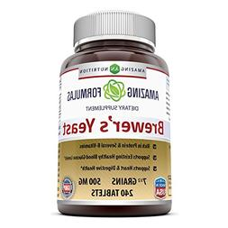 Amazing Nutrition Brewers Yeast Tablets - 7.5 Grain Capsule