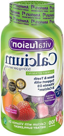 VitaFusion Calcium with Vitamin D3 - 2 100 Count Bottles - 2