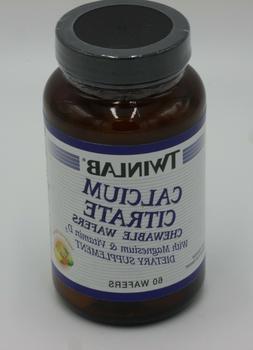 Twinlab Calcium Citrate Magnesium & Vitamin D 60 Wafers Exp