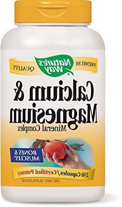 Nature's Way Calcium and Magnesium, 250 Capsules