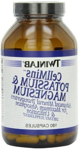 Twinlab CellMins Potassium and Magnesium, 180 Capsules