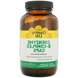 Country Life Coenzyme B-Complex Caps 240 Vegan Caps, Brand N