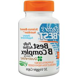 Doctor's Best Fully Active B Complex with Quatrefolic 30 Veg