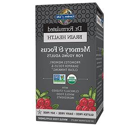 Garden of Life Dr. Formulated Organic Brain Health Memory &